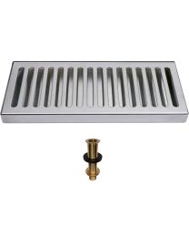 "SS Drip Tray 12""x5"" - With Drain"