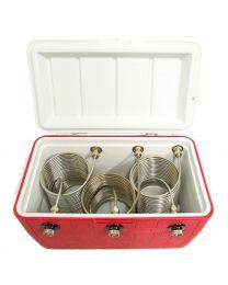 Triple Faucet Jockey Box coil cooler 50' coil