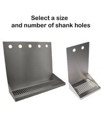 Wall MountDrip Trays - with Shank Holes