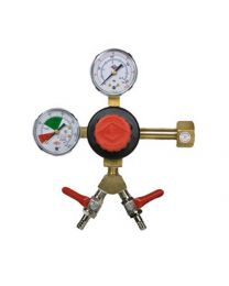 CO2 Regulator , Double Gauge - Dual Output