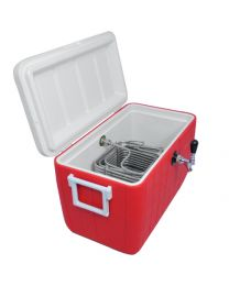 Single Faucet Jockey Box coil cooler 70' coil