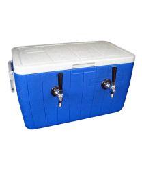 Double Faucet Jockey Box coil cooler 50' coil