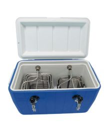 Bev Rite Double Faucet Beer Coil Cooler Jockey Box, Two 120 Feet - All SS304 Contact