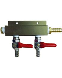 "2 Way CO2 Distributor , 5/16"" barbs - Bev Rite"