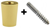 Polished Brass Ferrule and Hanger Bolt Set