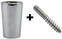 Chrome Ferrule and Hanger Bolt Set