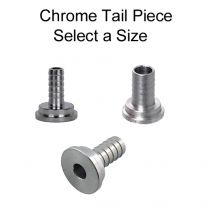 Chrome Plated Brass Tailpiece - Select a Size