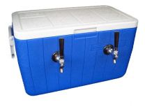 Bev Rite 50' SS Coil Double Faucet Draft Beer Jockey Box