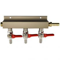 "3 Way CO2 Distributor , 5/16"" barbs - Bev Rite"