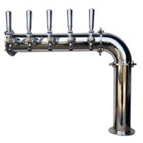 """3"""" Brooklyn Pipe L Tower All SS Contact 4-8 Faucets Air Cooled"""