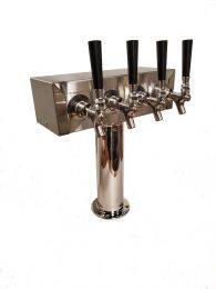 Bev Rite 4 Faucet T Tower - Glycol Cooled