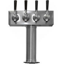 """4 Faucet T Tower , 3"""" Column, Air Cooled"""
