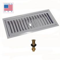 "Flush Mount Drip Tray 12"" X 5"" with Drain"