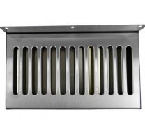 "12""x6"" SS304 Wall Mount Drip Tray, No Drain"