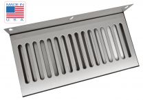 "14""x6"" SS304 Wall Mount Drip Tray, No Drain"