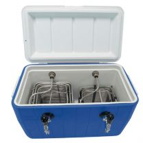 Double Faucet Jockey Box coil cooler 120' coil