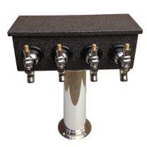 4 Faucet Mosaic Tower - Acrylic Box